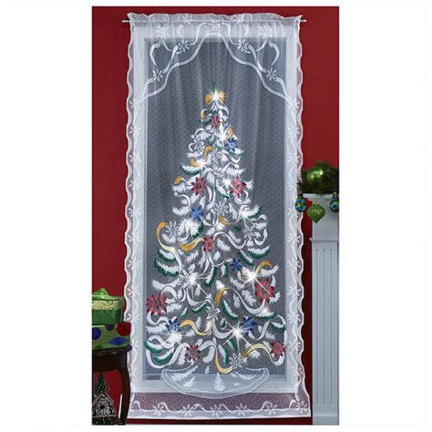 lighted christmas curtain panels airbrushed christmas lighted window panel stoneberry