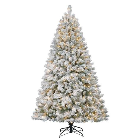 holiday living 7 ft weston fir flocked pre lit artificial