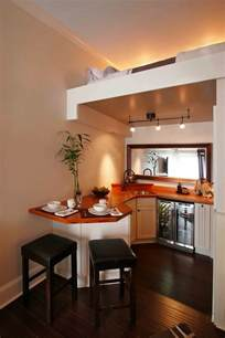Kitchen Design For Small Houses Beautiful Small Kitchen With Upstairs Sleeping Loft Tiny