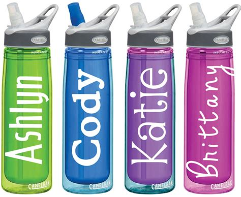 printable vinyl for water bottles name decals for personalized water bottles or tumblers 2x4