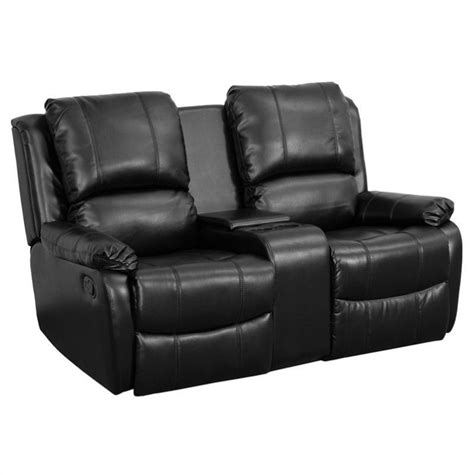 recliner movie chairs 2 seat home theater recliner in black bt 70295 2 bk gg