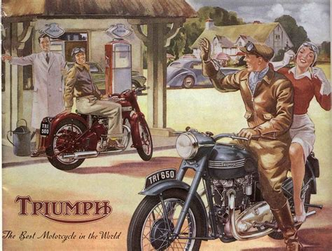 Triumph Motorrad Poster by Vintage Triumph Motorcycle Posters Bierwerx