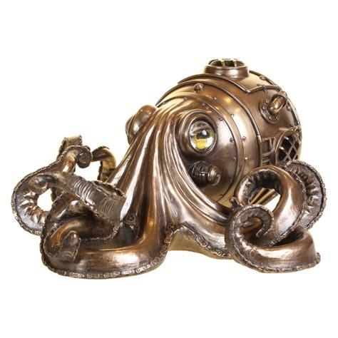Miroir Metal 3066 by D 233 Coration Octopus Avec Scaphandre 28cm Steunk Jules