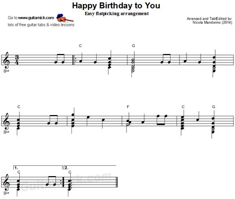 download mp3 happy birthday guitar acoustic happy birthday to you flatpicking guitar sheet music