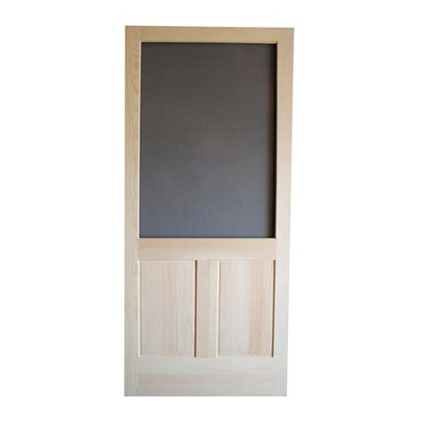 Screen Doors Lowes by Shop Screen Tight Pioneer Wood Screen Door Common