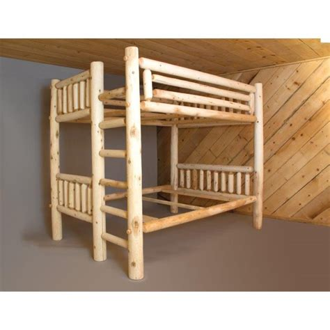 cedar beds white cedar log bunk bed