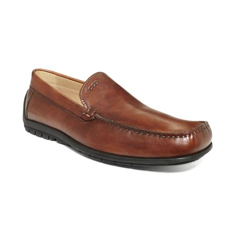 ecco loafer ecco soft slip on loafers in brown for cognac lyst