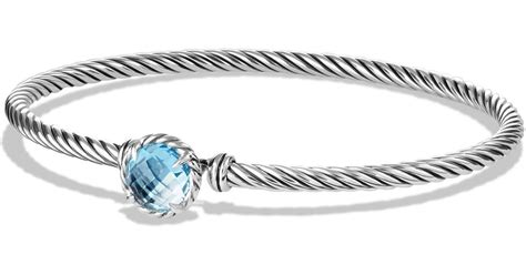 david yurman ch 226 telaine bracelet with blue topaz in blue