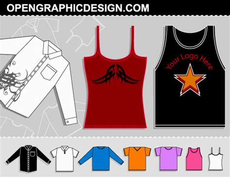 design shirt vector vector t shirt template collection free download t shirt