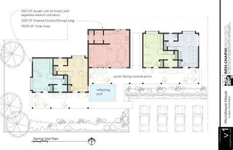 Unit House Plans by A 4 Micro Unit House Ross Chapin Architects