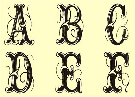 alphabet tattoo monogram free monogram templates free monogram stencils printable