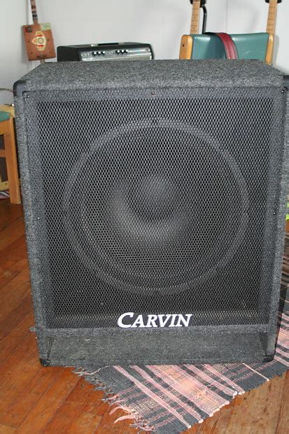 low down sound bass cabinets carvin v118 1x18 ported bass cabinet 8 ohms reverb