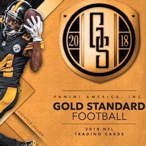 2018 panini gold standard football checklist, nfl set info