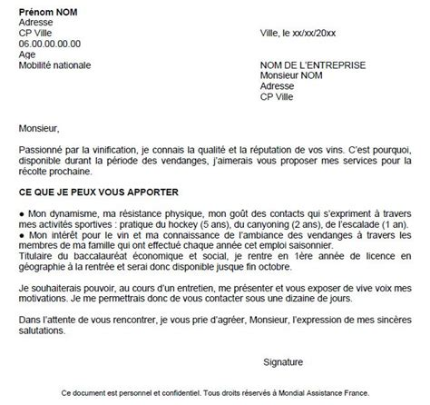 Lettre De Motivation D ã Tã Supermarchã Resume Format Lettre De Motivation Cv Etudiant