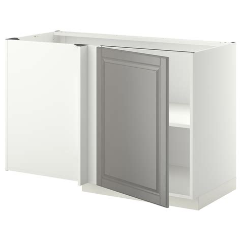 ikea kitchen base cabinet metod corner base cabinet with shelf white bodbyn grey