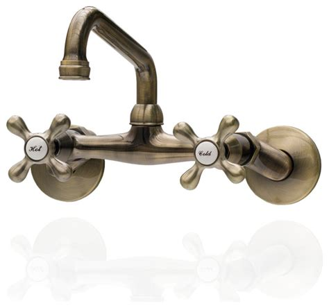 Antique Wall Mount Faucet by Antique Style Brass Wall Mounted Faucet With Adjustable
