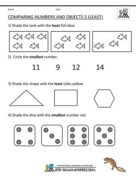 printable games for comparing numbers kindergarten math worksheets comparing numbers objects 5