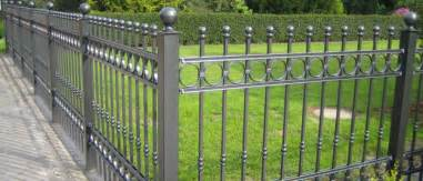 Types Of Garden Fencing - metal fencing london wrought iron gates panels and posts