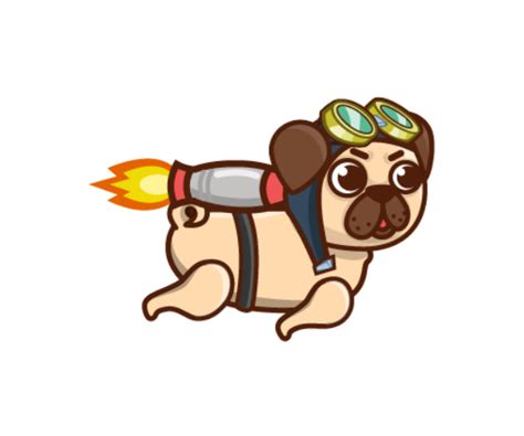 pug png jet pack pug royalty free set