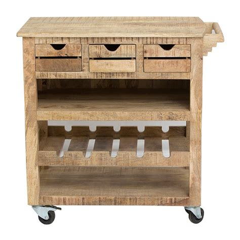 houten keukentrolley robuuste keukentrolley met wijnrek lavis rena lumz nl