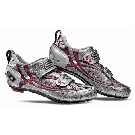 triathlon bike shoes sidi t3 carbon s tri cycling shoes silver mamba
