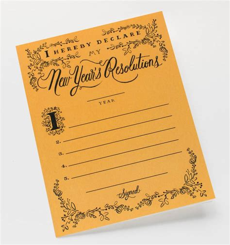 resolution constitution greeting card by rifle paper co