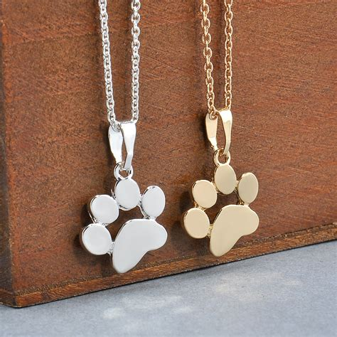 paw necklace aliexpress buy fashion pets dogs footprints paw chain pendant necklace