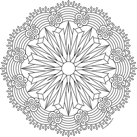 rainbow mandala coloring pages don t eat the paste sun and rainbow coloring page