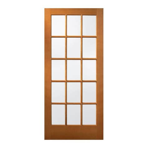 JELD WEN 36 in. x 80 in. 15 Lite Unfinished Wood Front