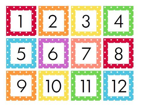 cute printable number cards calendar numbers printable calendar template 2016