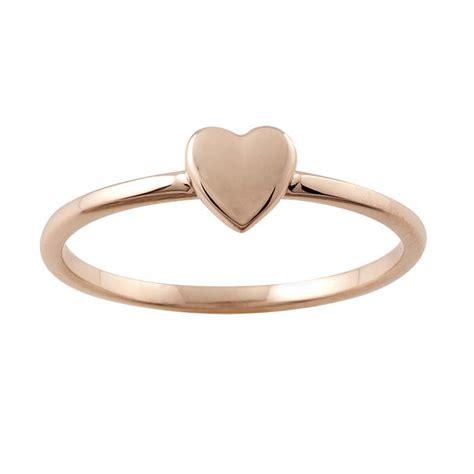 14k gold stackable ring with accent