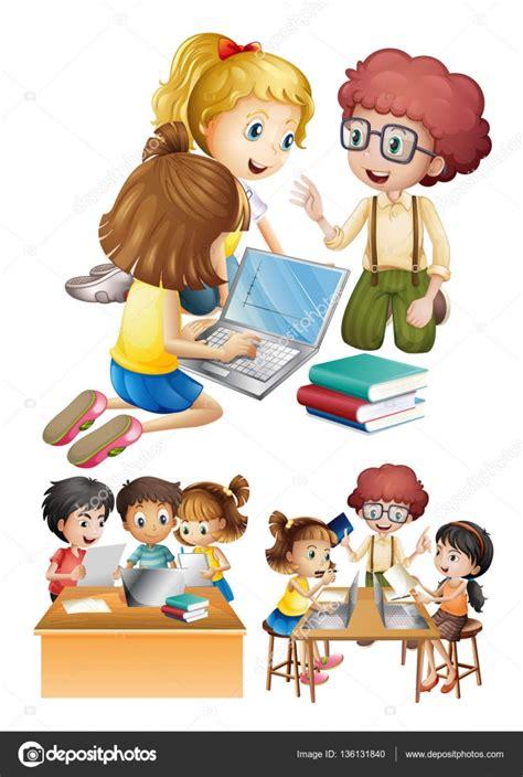 imagenes de niños trabajando matematicas ni 241 os trabajando y estudiar juntos archivo im 225 genes