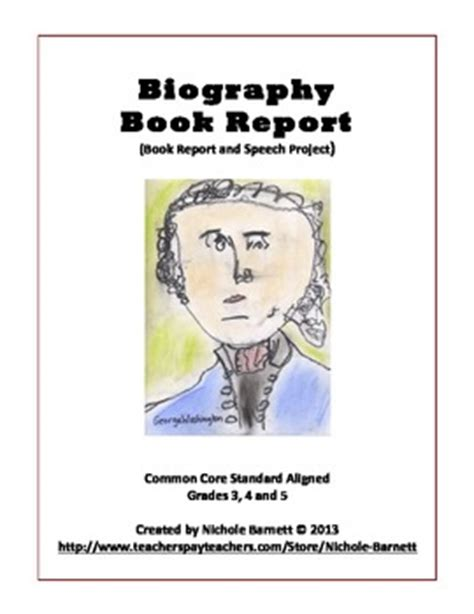 biography book for 5th graders biography book report rubric by inspire dream create tpt