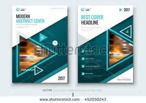 teal modern catalog design corporate business stock vector