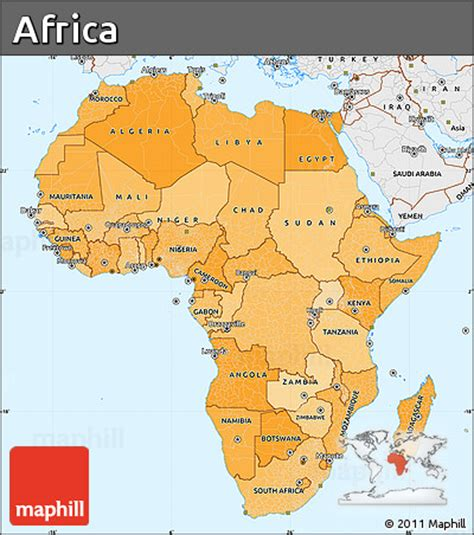 africa map with labels colored physical map of africa with labels pictures to pin