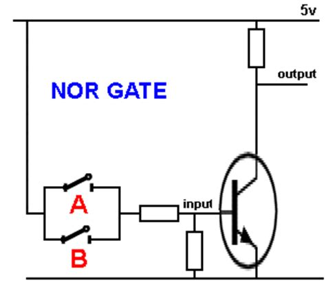 transistor nor gate basic electronics 1a