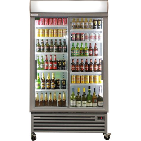 Sliding 2 Door Upright Commercial Bar Fridge Melbourne Commercial Refrigerator Sliding Glass Doors