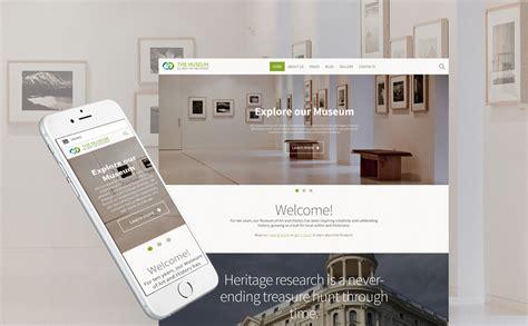 museum template museum responsive joomla template 62315