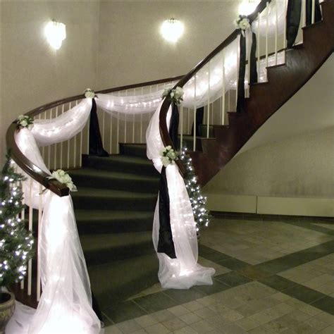 decoration for a banister wedding staircase decoration on pinterest wedding