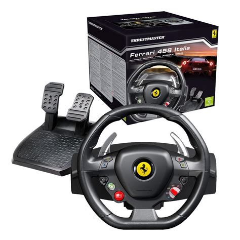 volante thrustmaster volante 458 italia para xbox 360 e pc