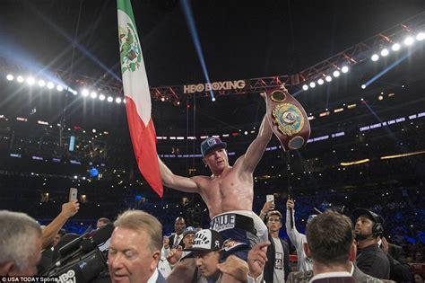 Kaos Canelo Alvarez With Flag Boxing liam smith loses wbo light middleweight title as saul canelo alvarez earns ninth