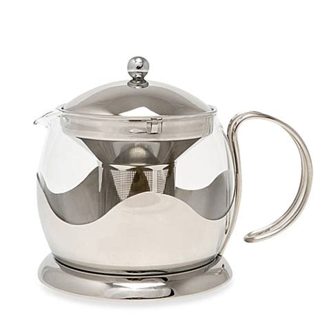 bed bath and beyond teapot buy la cafetiere 4 cup stainless steel le teapot from bed
