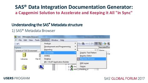 Sas Etl by Sas Data Integration A Capgemini Solution To Accelerate And Keeping