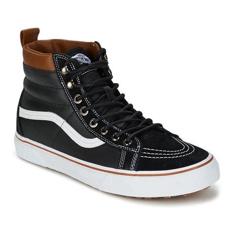cheap vans sk8 hi mte high top shoes black true white