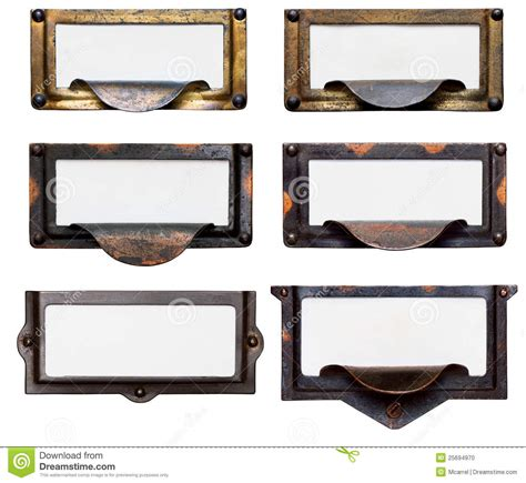 File Drawer Label Holders by File Drawer Frames With Blank Labels Stock Photo