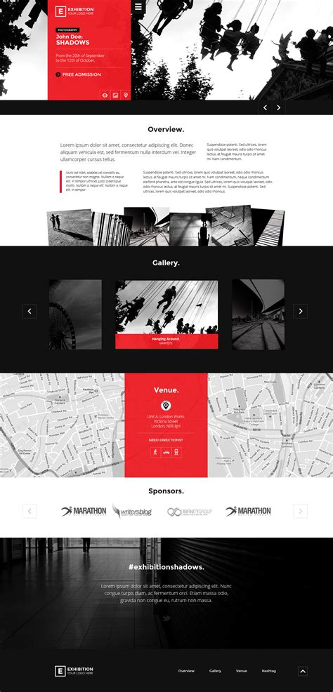 themes for computer exhibition exhibition html landing page art gallery muesum by