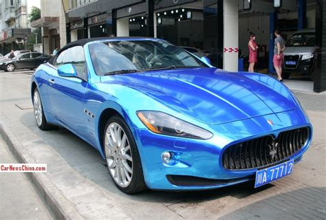 maserati china maserati grancabrio is shiny blue in china carnewschina com