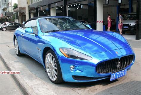 maserati china maserati grancabrio is shiny blue in china carnewschina com