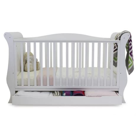 Sleigh Cot Bed Babystyle Hollie Sleigh Cot Bed With Underbed Drawer Fresh White Free Foam Mattress Worth 163 30