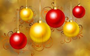 red and gold christmas baubles wallpaper 1084219